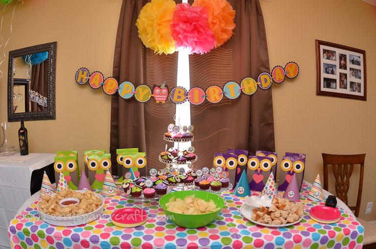 owl party ideas - some banners I like (photo one esp.) and high chair banner