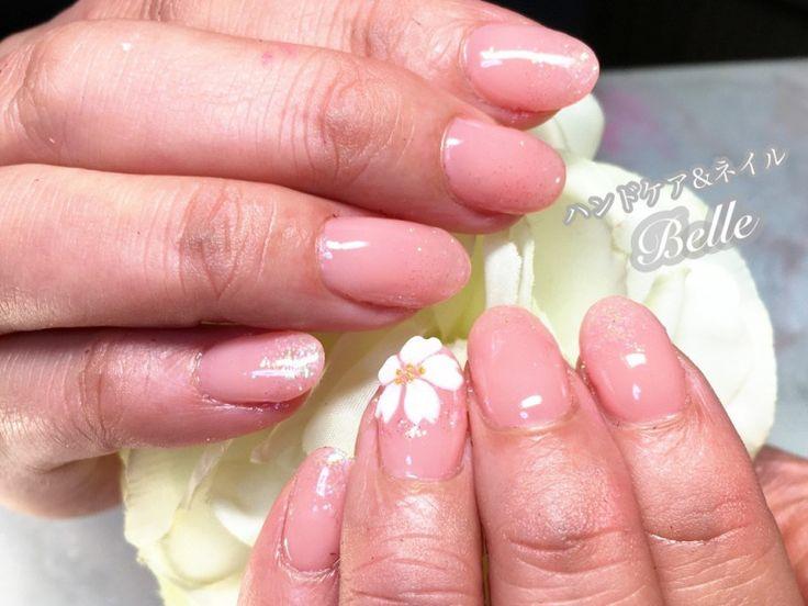 ワンポイント桜ネイル | 刈谷市のネイルサロン『ハンドケア&ネイル Belle』の気まぐれブログ