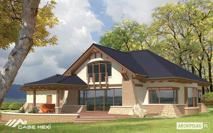 #Casa cu mansarda, subsol si garaj dublu , proiectata pentru o familie cu 5-6-persoane. Se distinge printr-o formă interesantă și finisaje originale, cu un sistem funcțional si accente arhitecturale aparte.