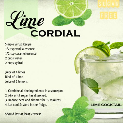 Sugar Free Lime Cordial #sugarfree #lime #recipe #easrecipe #lchf #banting #justlovecooking