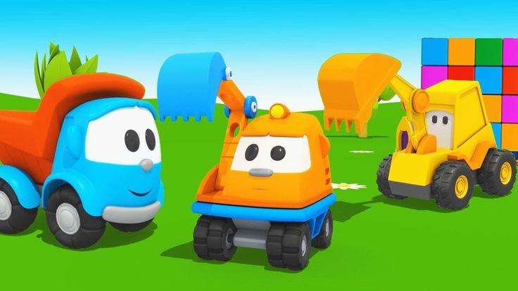 Cartoni animati per bambini   Leo Junior e piccolo escavatore Scoop   St...