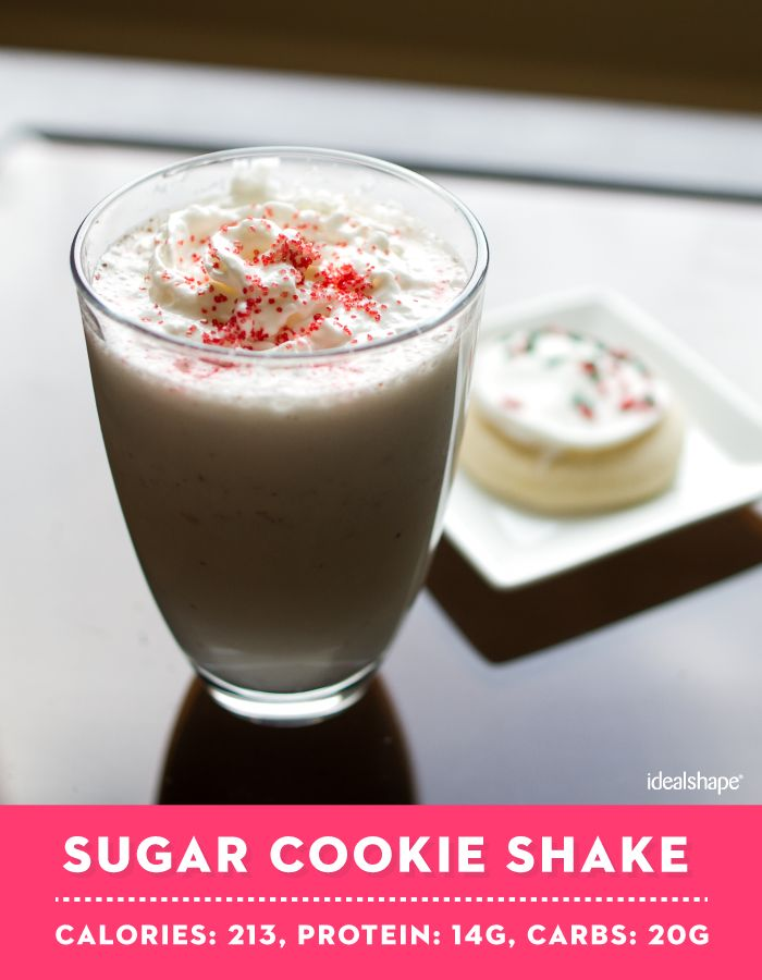 Sugar. Cookie. SHAKE. Oh yes we did ;)  Recipe: 1 scoop Vanilla IdealShake 1/2 tsp vanilla extract 1/4 tsp almond extract 1 tsp honey or agave Dash of Salt 1 cup unsweetened almond milk 1 Tbsp almond flour  Add ice and blend. Add fat-free Reddi-wip and some sprinkles on top for garnish, and enjoy!