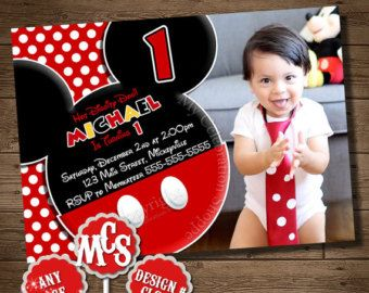 MICKEY MOUSE INVITATION Birthday Invitation by MyCelebrationShoppe