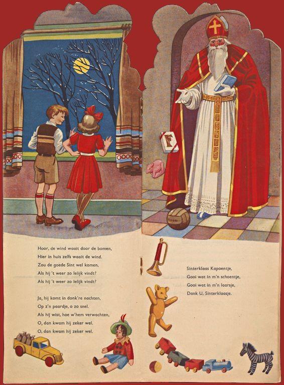 Sinterklaasillustratie uit boek in KB-bezit