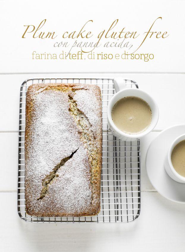 Insolito plum cake. Con farina di teff, riso e sorgo.
