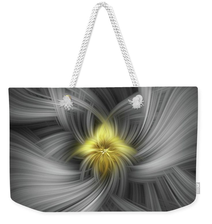 "Silver And Gold. Mystery Of Colors Weekender Tote Bag (24"" x 16"") by Jenny Rainbow.  The tote bag includes cotton rope handle for easy carrying on your shoulder.  All totes are available for worldwide shipping and include a money-back guarantee."