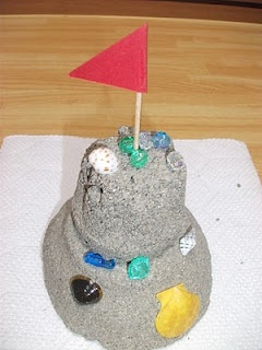 Permanent sand castle craft. Try this with come Crayola Colored sand!