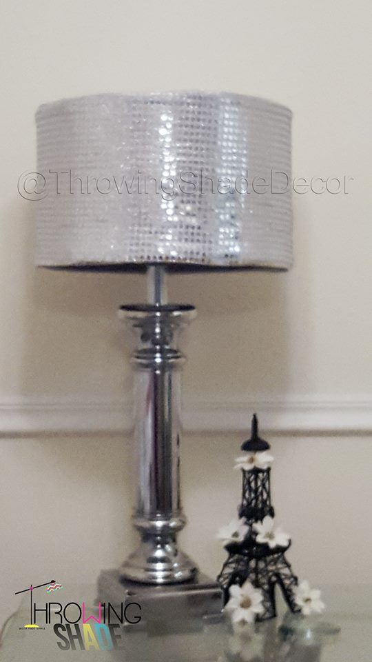 17 best lamp shade slip covers images on pinterest lamp shades bring glamour to any room with this silver sequin lamp shade slip cover by throwing shade mozeypictures Gallery