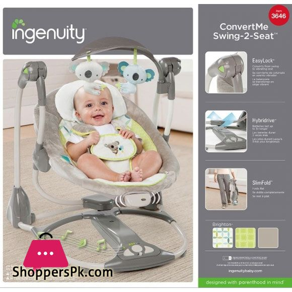 Buy Ingenuity 3646 Koala Toy Convert Me Baby Swing 2 Seat At Best Price In Pakistan Baby Swings Baby Swings And Bouncers Baby Rocker