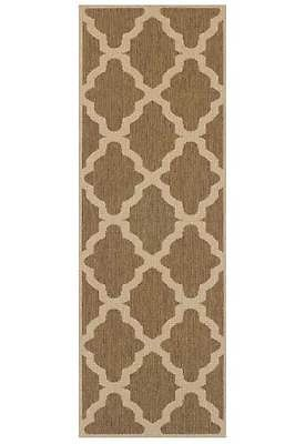 £30 Trellis-Flatweave-Utility-Mats-Kitchen-Rugs-Hall-Runners-Natural-Anti-Slip-Gel