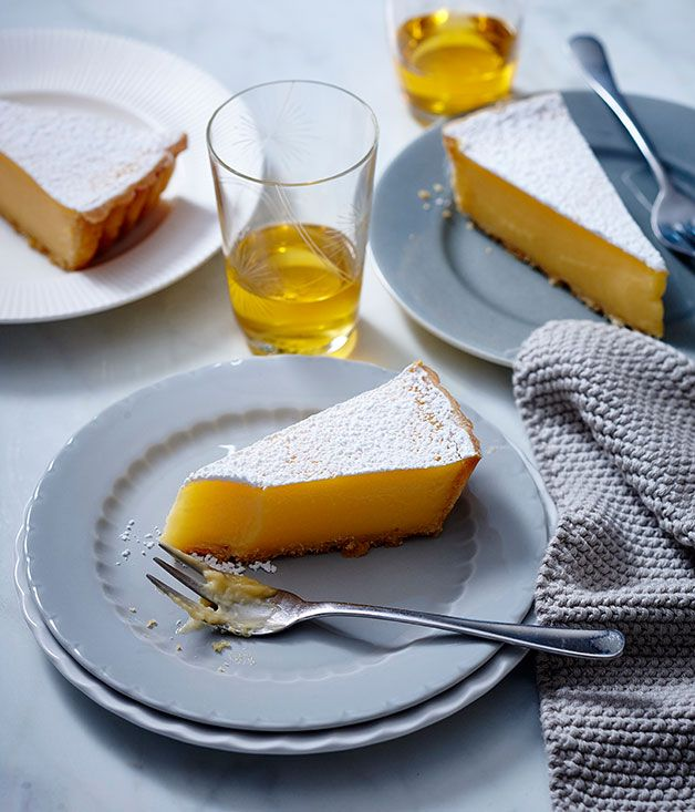 Lemon tart - a different recipe, using creme fraiche and lemon zest in the pastry