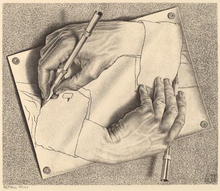 Drawing Hands / M.C. Escher / 1948 / always loved this...
