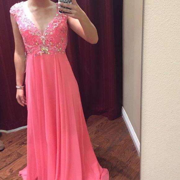 Prom Dress, Sexy A-line Pink Rhinestones Prom