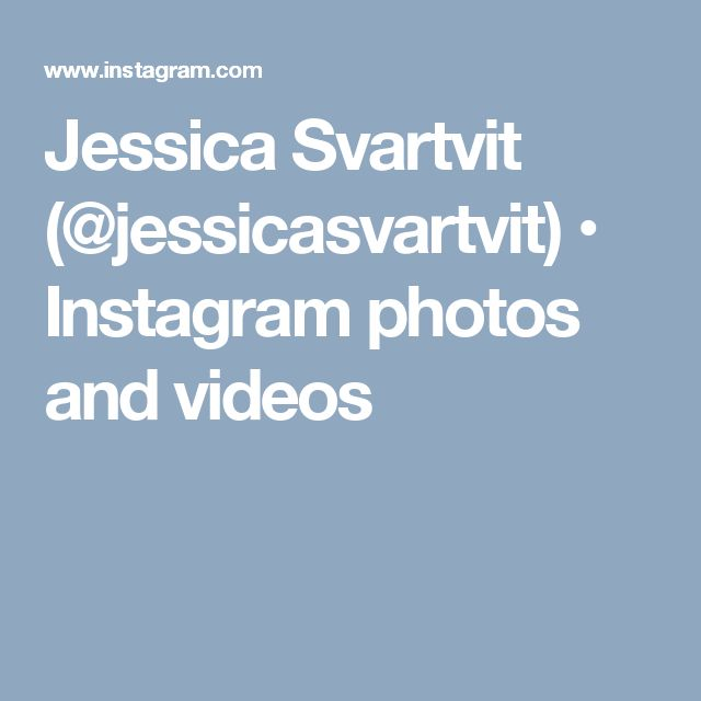 Jessica Svartvit (@jessicasvartvit) • Instagram photos and videos