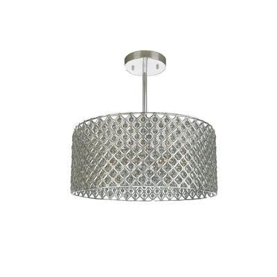 Illumine 3 Light Ceiling Fixture Silver Finish Cli