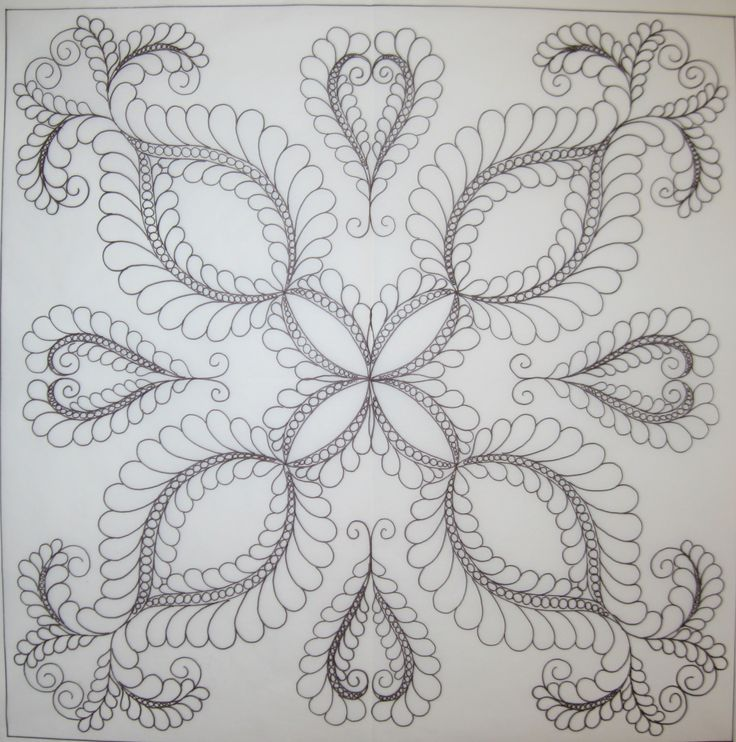Machine Quilting Wholecloth Feathers - P8101 - AQS QuiltWeek ...