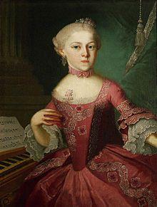 Maria Anna Mozart 1751-1829 Salzburg, ältere Schwester von Mozart