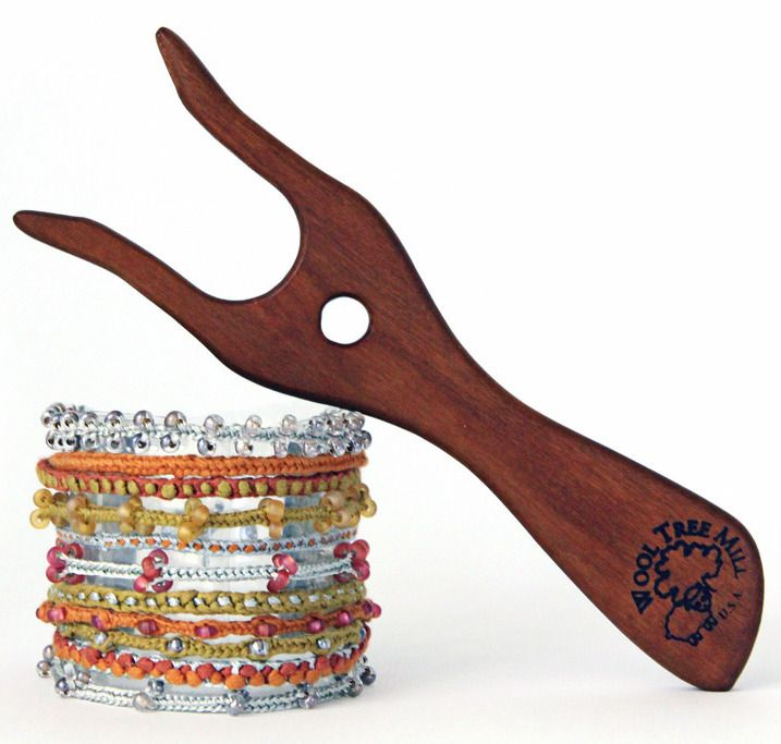 Here's something you can make with a lucet (and yarn!).  FREE instructions. http://www.stitchdiva.com/blog/lucet-cord-bracelet-7-day-challenge/?utm_campaign=coschedule&utm_source=pinterest&utm_medium=Jennifer&utm_content=I%20got%20a%20gift%20for%20you%21