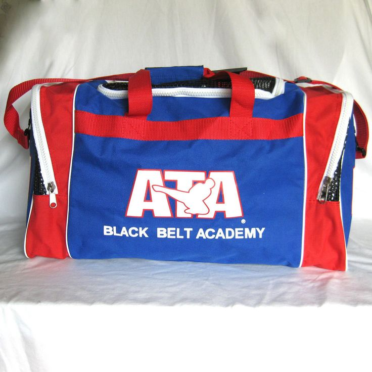 ATA Black Belt Academy Taekwondo Equipment Gear Duffle Gym Bag Red White & Blue #ATA #MMA #BlackBelt