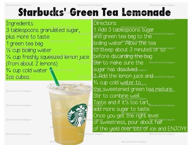 my favorite starbucks recipe :D it´s just the best one. Try it out. green tea lemonade <3
