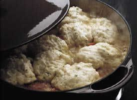 Easy Dumplings Nothing tops off beef stew or chicken and vegetables better than these two-ingredient dumplings! http://www.tablespoon.com/recipes/dumplings-recipe/10/