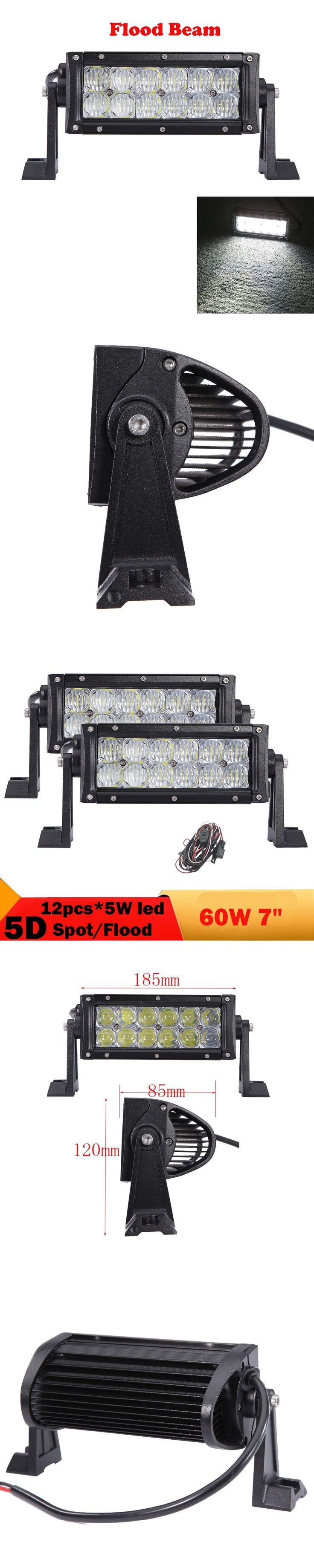 2 PCS 5D 60W Offroad LED Work Light Bar For Truck Boat Bus ATV UTB UTV 4WD 4X4 Offroad Led Driving Headlight Fog Lamp 12V 24V
