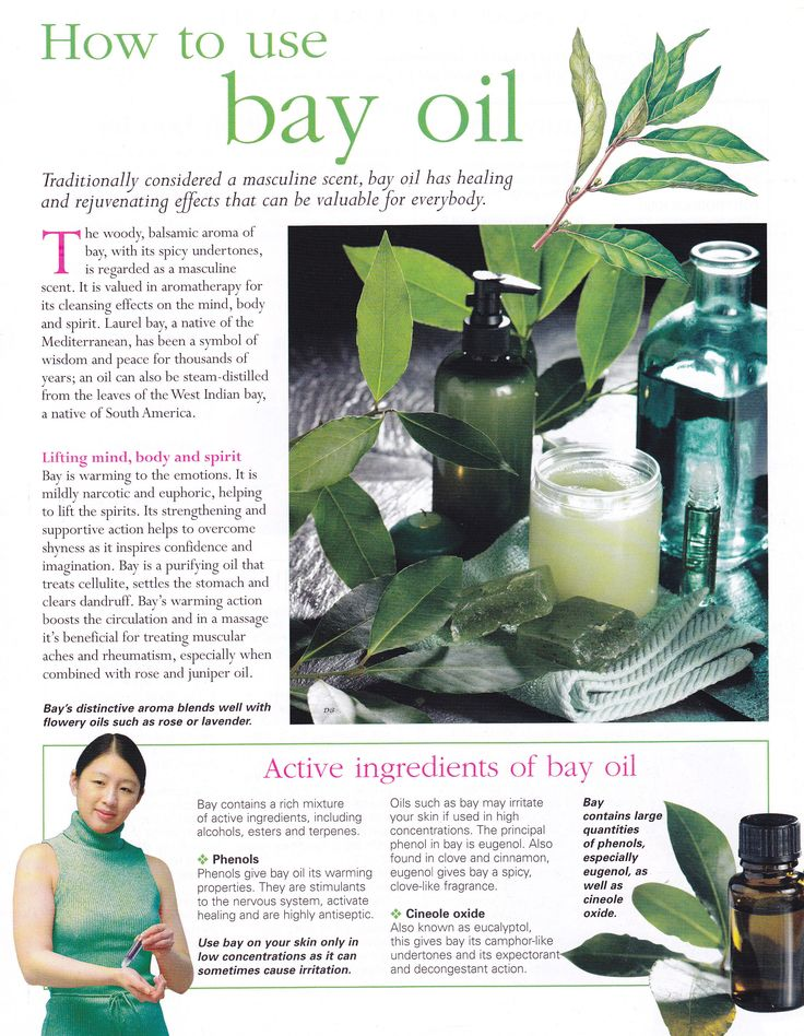 Herbs:  How to Use #Bay Oil.