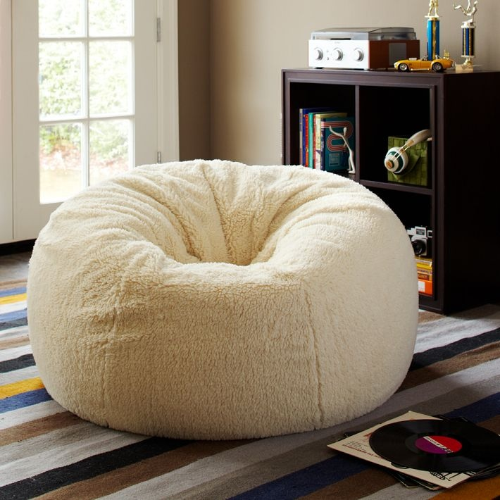 Find bean bag chairs with cozy covers and create a cool and comfy lounge space. From fur to fringe, PBteen's beanbags give the room a fresh new look.