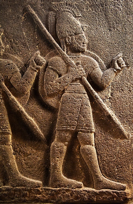 Carchemish neo hittite orthostat with relief sculpture of