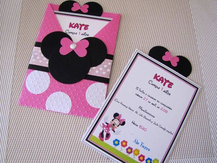 invitacion de baby shower de minnie mouse