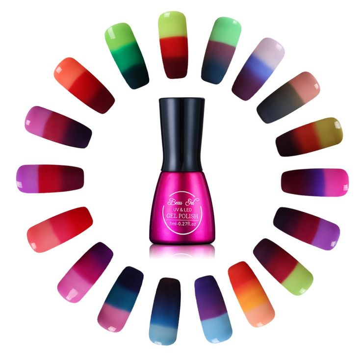 Beau gel camaleón cambio de temperatura de color de uñas de gel uv 3 en 1 el estado de Ánimo de Color Térmica Cambio UV Gel Polaco Barniz 7 ml/unid