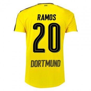 BVB BoRyssland Dortmund 16-17 Adrian Ramos 20 Hemmatröja Kortärmad  #Fotbollströjor