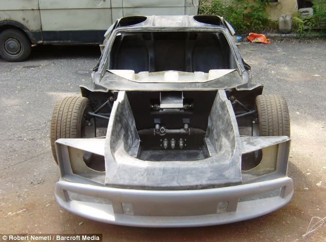 A little help: The McLaren F1 has been built with the help of more than 30 of his friends and family