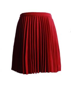 Red Cute Pleating Skirt