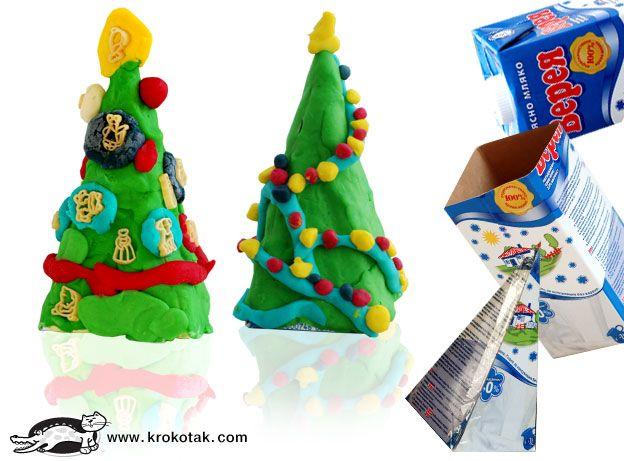 Christmas in plasticine, clay