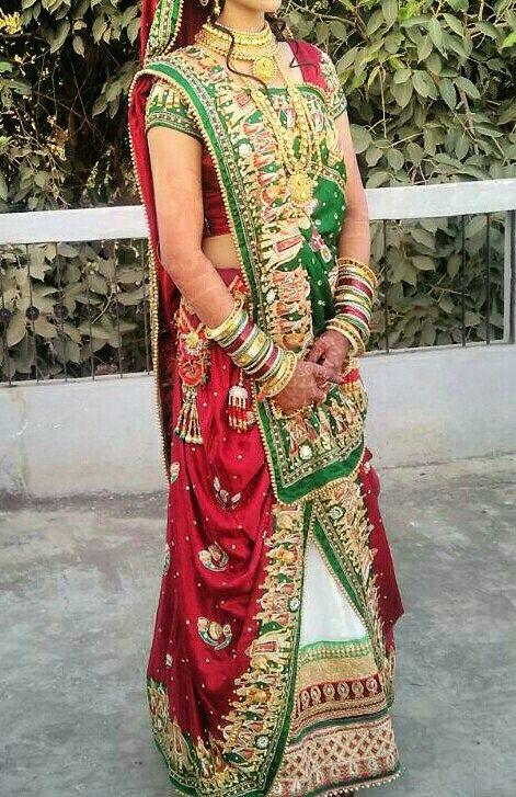 gujrati bridal wedding dress