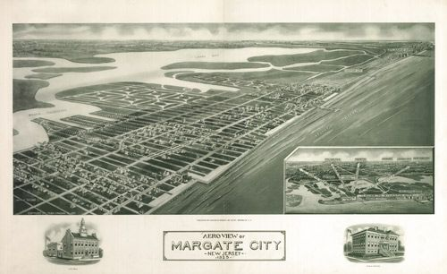Historic Map of Margate City, NJ - 1925