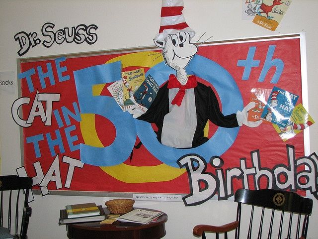 Creative Ways To Display Quotes: Dr. Seuss Birthday Bulletin Board Idea