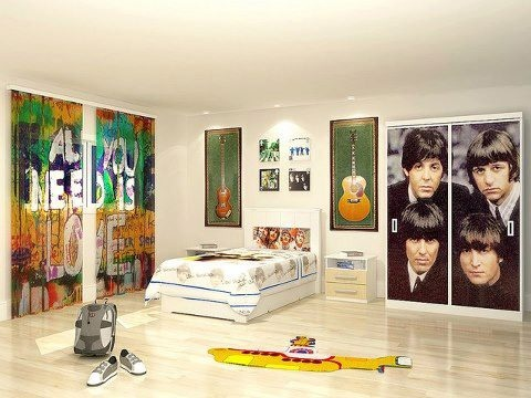 Pin by jessie lacrue on decor for beatles room pinterest for Beatles bedroom ideas
