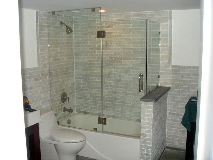 42 best images about bathroom tub shower ideas on for Small 3 piece bathroom ideas