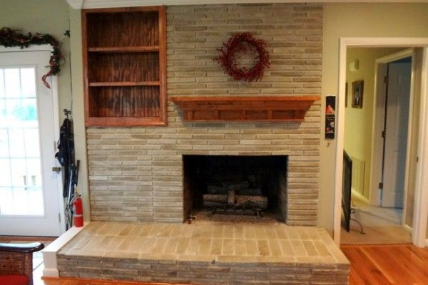 The Solution to the Dated Brick Fireplace That Even Your Husband Will Approve Of - The Decorologist