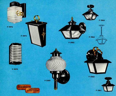 41 midcentury lighting ideas - post lanterns, lamp posts, wall lanterns and landscaping lights - Retro Renovation