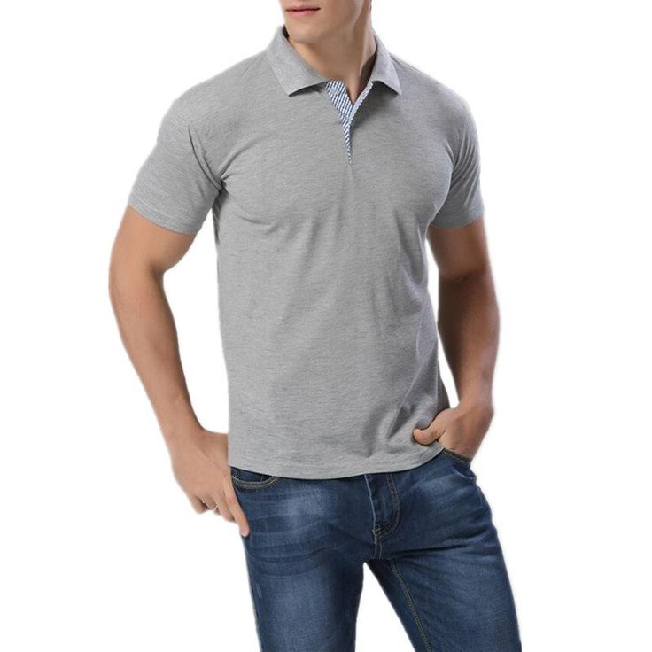 Short Sleeve  Polo Men Cotton Casual Breathable Fitness Boss Men Polo Shirts Size:M~3XL