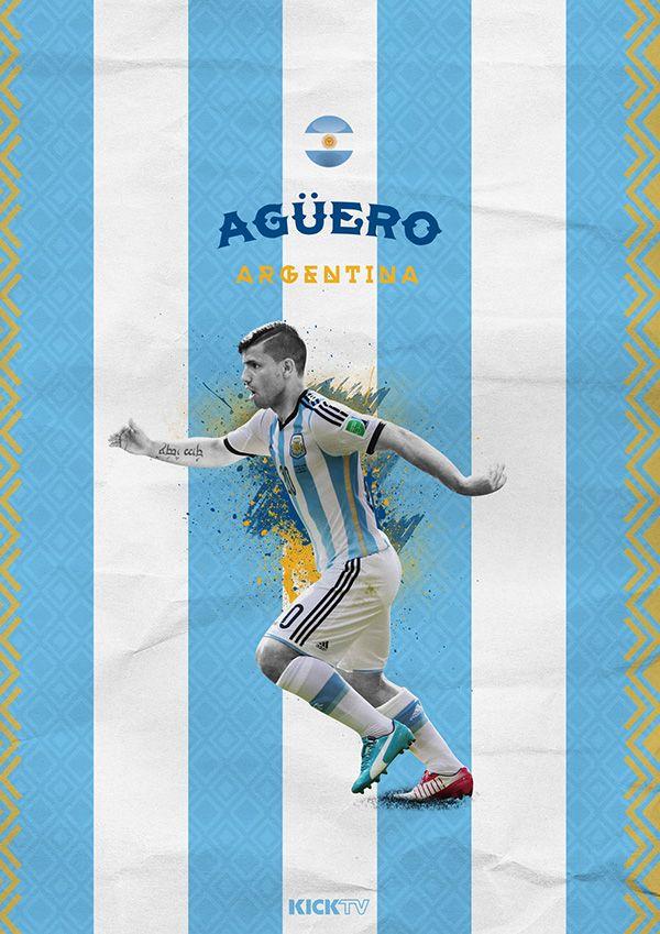 Copa America 2015 on Behance / Sergio Agüero / Argentina / La Albiceleste