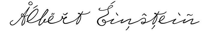 Write Like A Genius With Albert Einsteins Handwriting Font