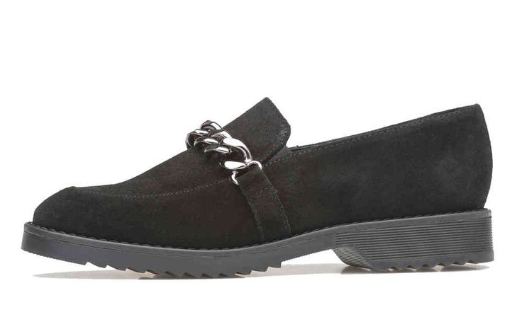 Palmroth loafer black suede -50%