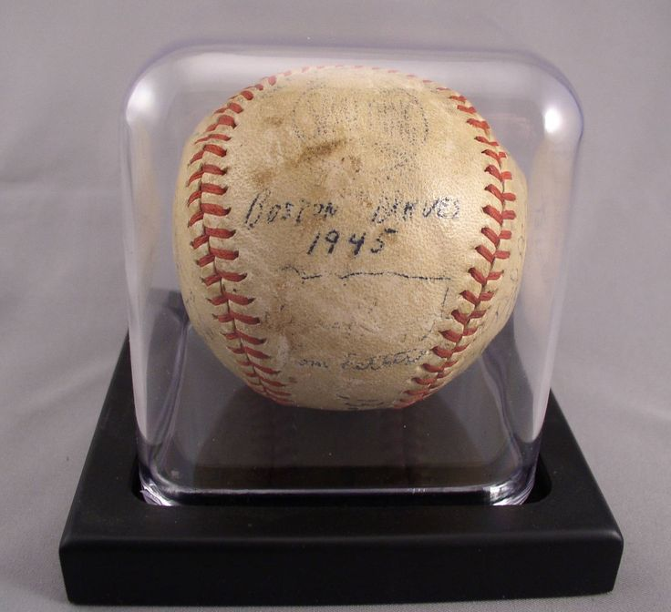 1945 BOSTON BRAVES Team Signed Baseball - 22 Signatures by SMNantiques on Etsy