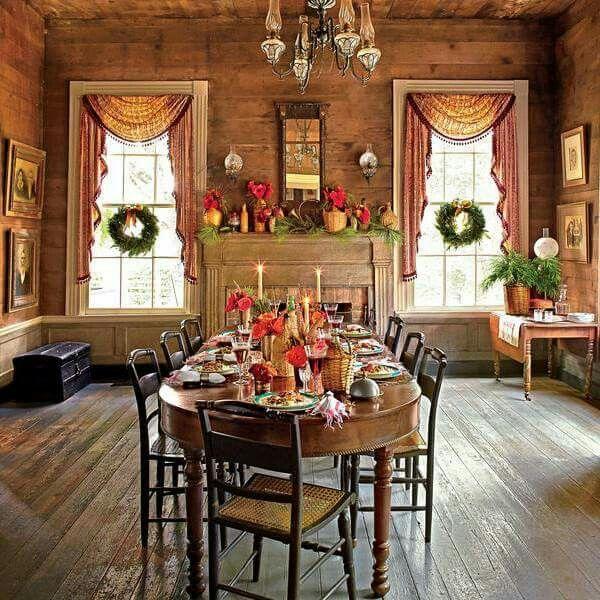 Beautiful Rustikale Esszimmer, Saisonale Dekoration, Urlaubsideen, Weihnachtsideen,  Primitive, Kunst Ideen