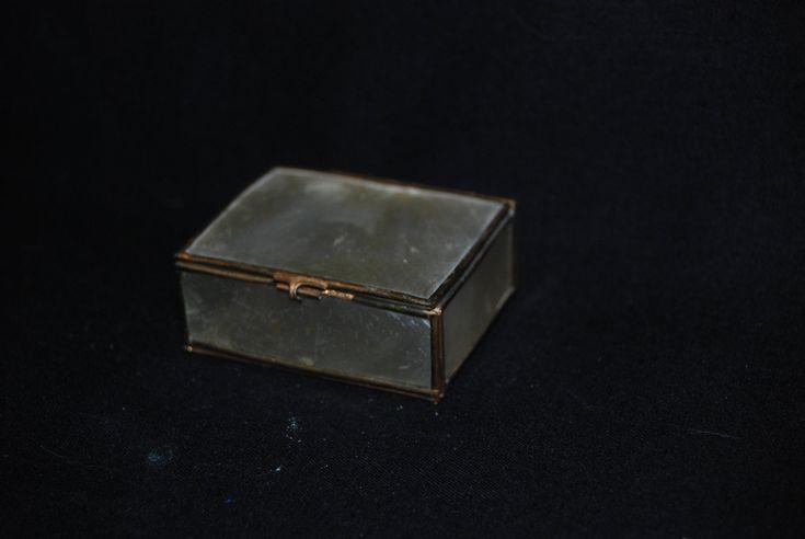 Capiz Shell Trinket Box - vintage brass match box - vanity dressing table box - jewellery art deco nautical -  keepsake tooth fairy compact by Spritejewelry on Etsy