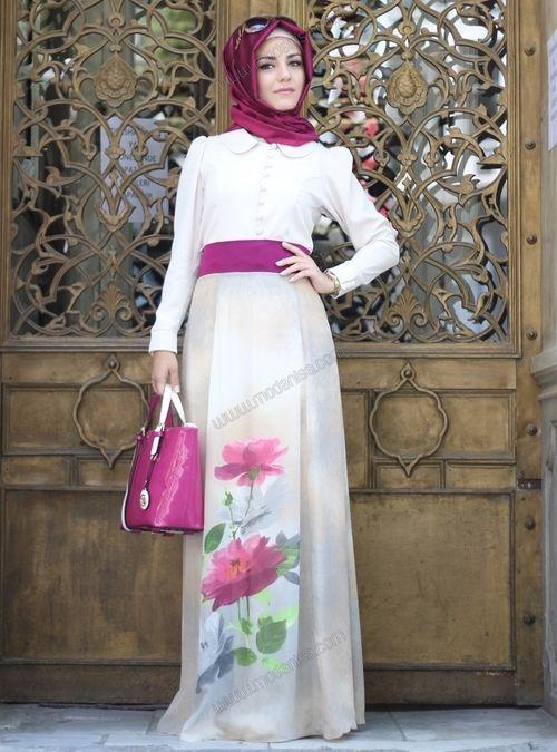 FloralPurple hijab